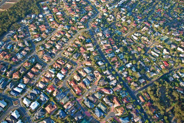 Brisbane city view aerial